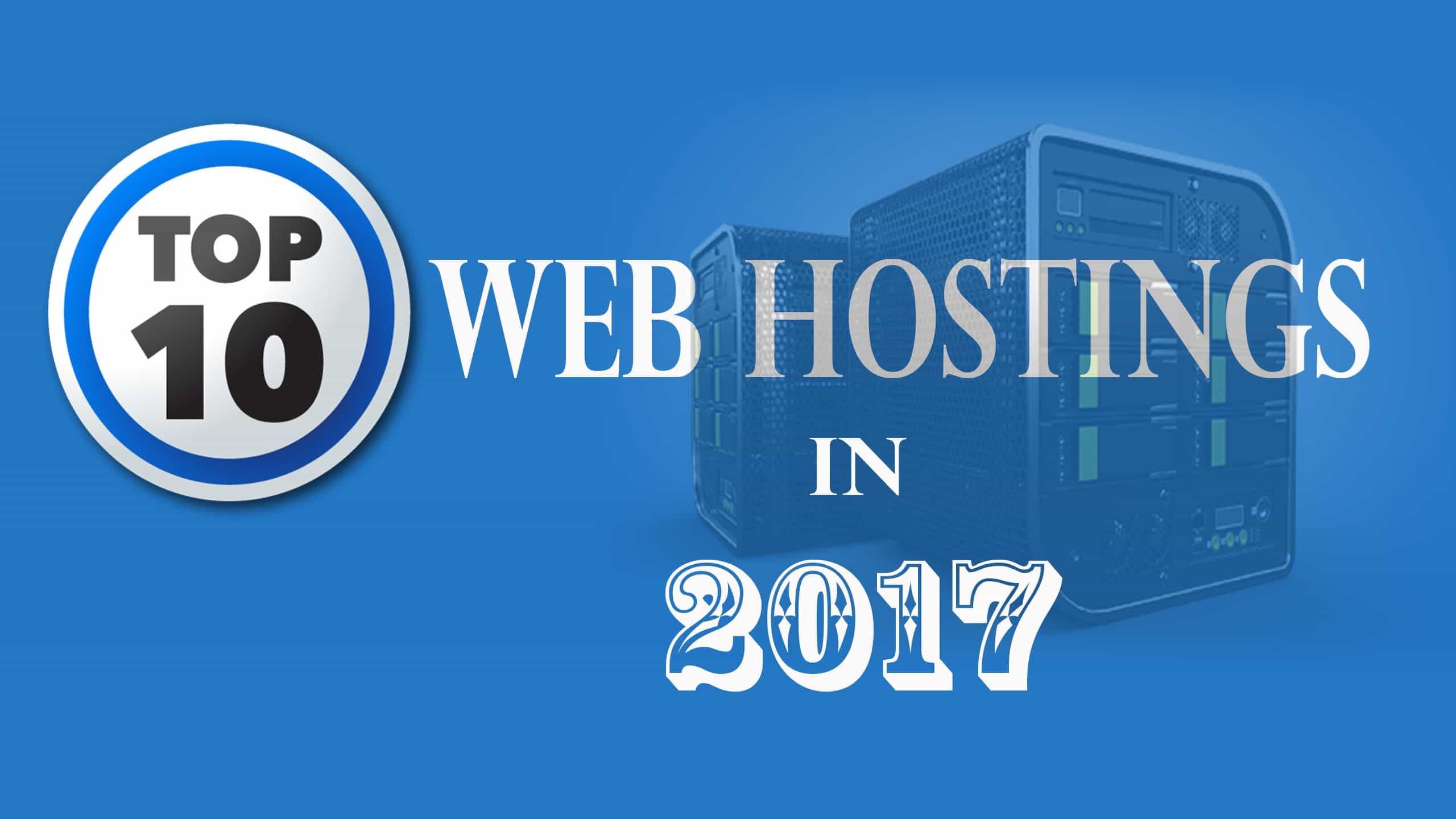BEST WEB HOSTINGS 2017