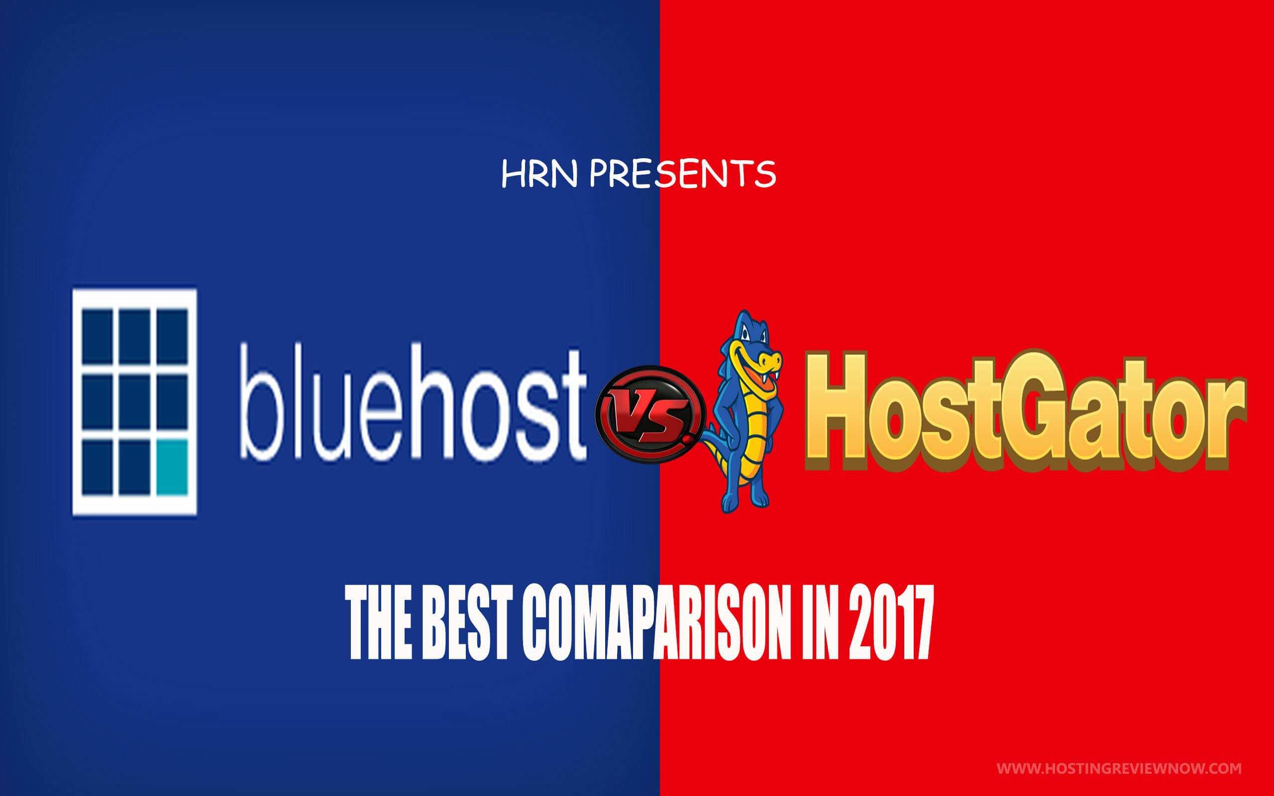 bluehost vs hostgator 2017