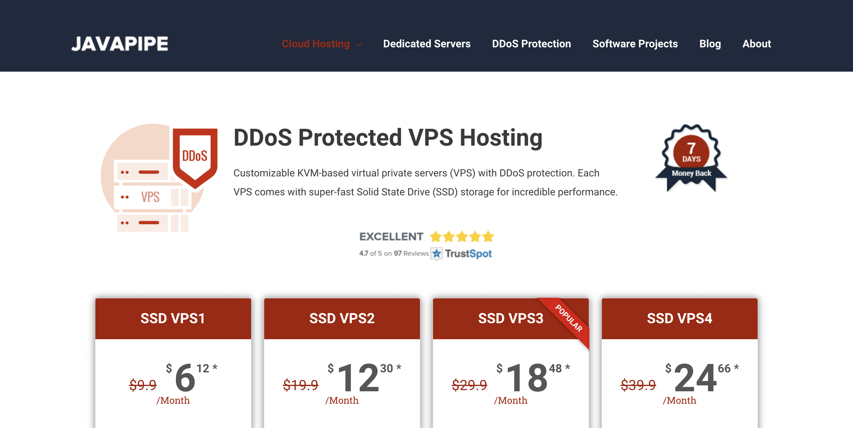 JavaPipe VPS Hosting